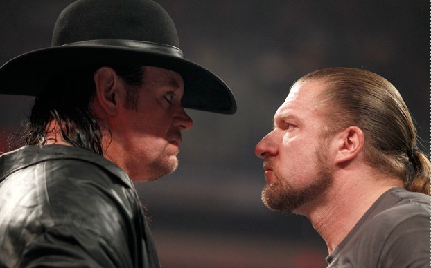 The-Undertaker-and-Triple-H-face-off