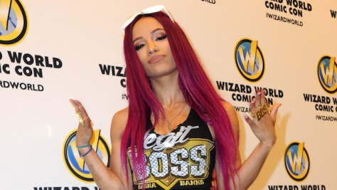 PHILADELPHIA, PA - JUNE 03:  WWE's Sasha Banks on Day 2 of Wizard World Comic Con Philadelphia 2016  held at Pennsylvania Convention Center on June 3, 2016 in Philadelphia, Pennsylvania.  (Photo by Albert L. Ortega/WireImage)
