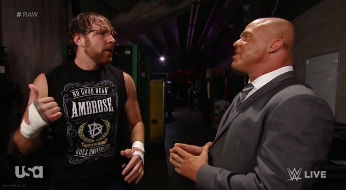 Kurt Angle-t állandóan Dean Ambrose-ról kérdezgetik